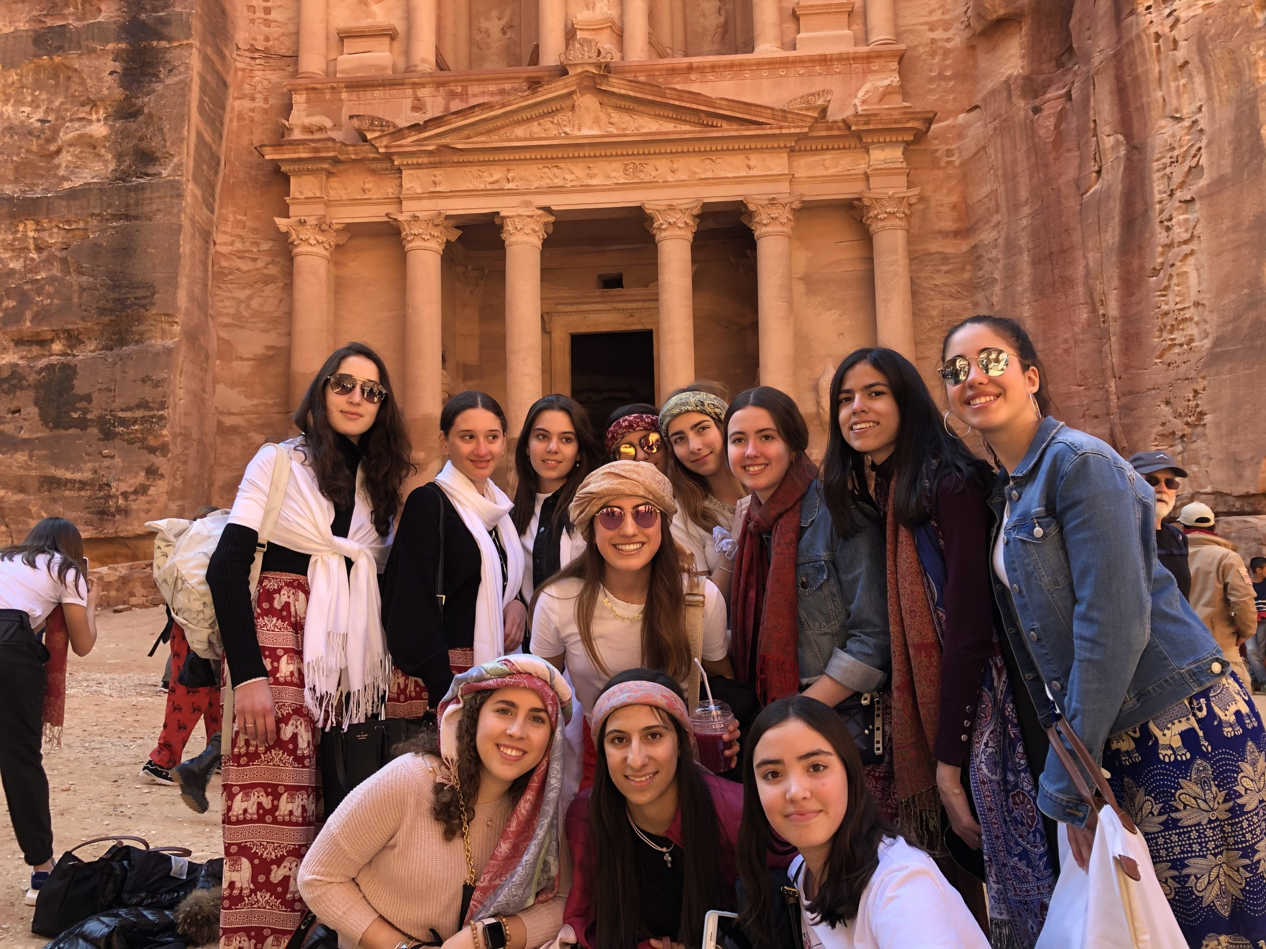 Group of students during the Holy Land trip