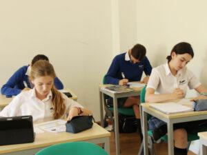 At the exams