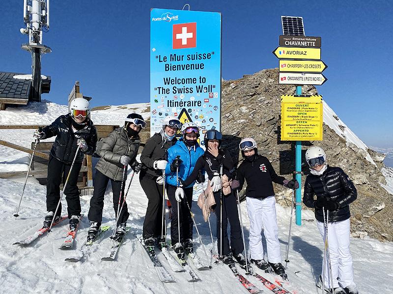 Champery Swiss Wall
